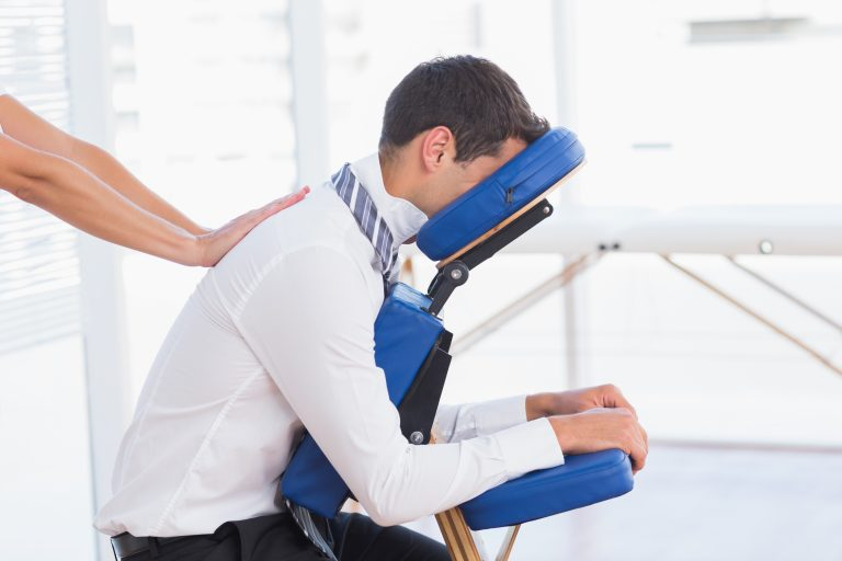 Worker Receiving Chair Massage