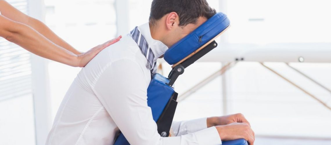 Worker Receiving Chair Massage